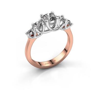 Foto van Verlovingsring Jet 585 rosé goud diamant 1.00 crt