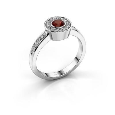 Ring Adriana 2 925 silver garnet 4 mm
