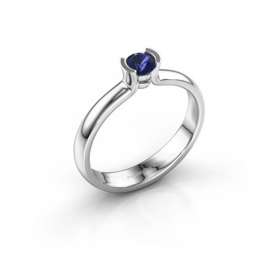 Engagement ring Ophelia 585 white gold sapphire 4 mm