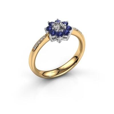 Verlovingsring Camille 2 585 goud saffier 3.4 mm