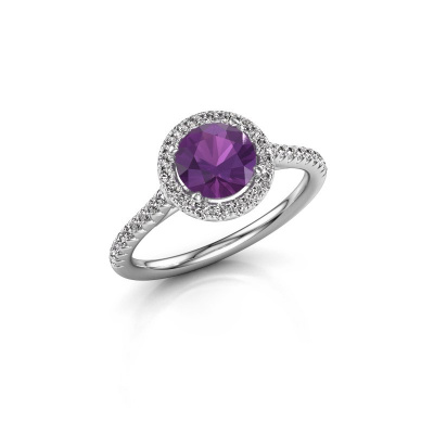 Picture of Engagement ring Seline rnd 2 925 silver amethyst 6.5 mm