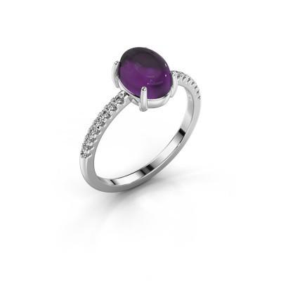 Ring Becky 925 Silber Amethyst 8x6 mm