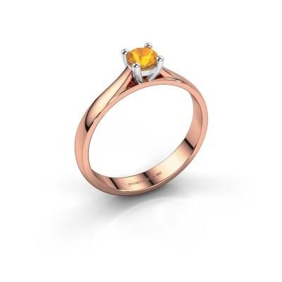 Foto van Verlovingsring Sam 585 rosé goud citrien 4.2 mm