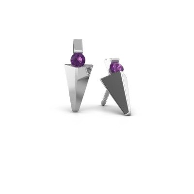 Picture of Earrings Corina 585 white gold amethyst 3 mm