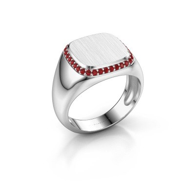 Heren ring Jesse 1 925 zilver robijn 1.2 mm