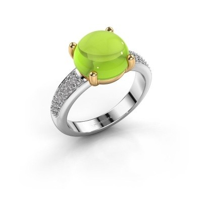 Picture of Ring Sophie 585 white gold peridot 10 mm