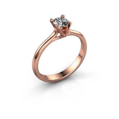 Verlovingsring Isa 1 375 rosé goud diamant 0.40 crt