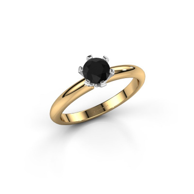 Picture of Engagement ring Tiffy 1 585 gold black diamond 0.60 crt