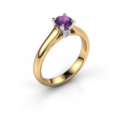Verlovingsring Valorie 1 585 goud amethist 5 mm