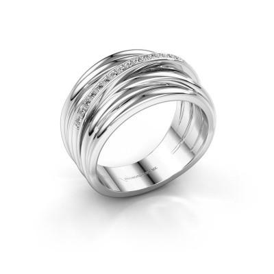 Foto van Ring Fien 925 zilver lab-grown diamant 0.095 crt