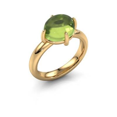 Ring Melodee 585 goud peridoot 10x8 mm