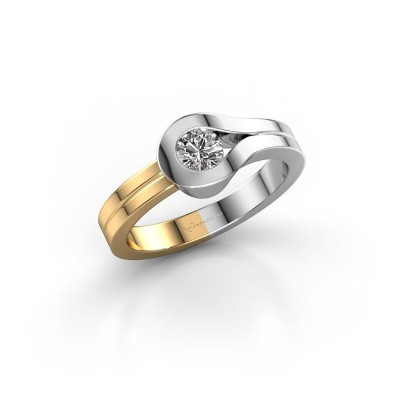Bague Kiki 585 or blanc diamant 0.30 crt