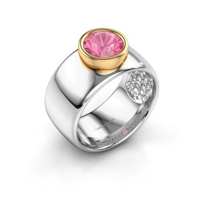 Bague Klarinda 585 or blanc saphir rose 7 mm