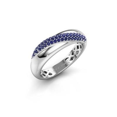 Foto van Ring Rosie 925 zilver saffier 0.9 mm