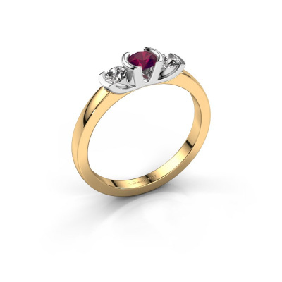 Ring Lucia 585 gold rhodolite 3.7 mm