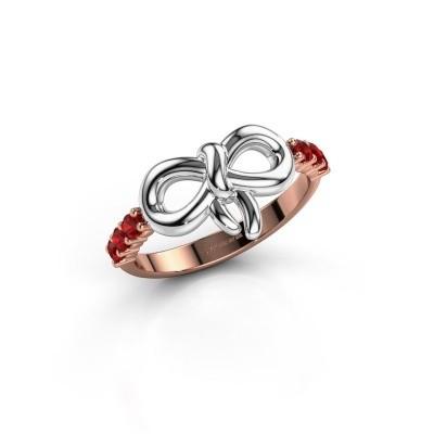 Ring Olympia 585 rosé goud robijn 2.2 mm