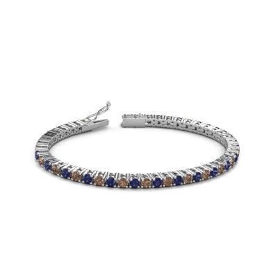 Foto van Tennisarmband Karin 3.5 mm 585 witgoud bruine diamant 4.32 crt