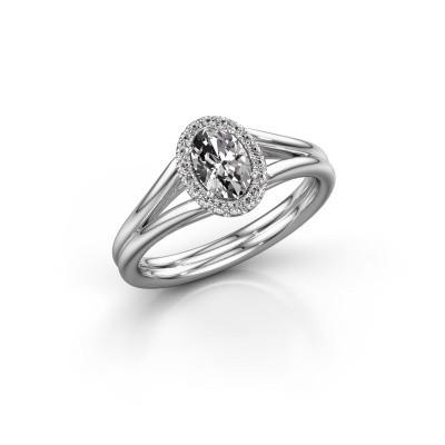 Foto van Verlovingsring Verla ovl 1 925 zilver diamant 0.59 crt