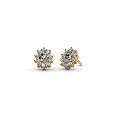 Picture of Earrings Leesa 375 gold zirconia 6x4 mm