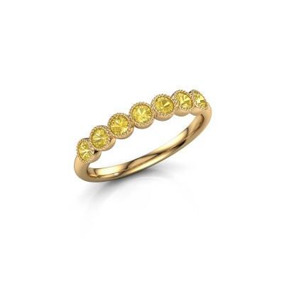 Foto van Ring Mariam half 375 goud gele saffier 2.4 mm