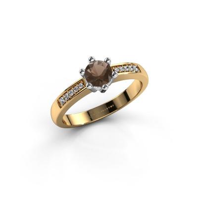 Verlovingsring Luna 2 585 goud rookkwarts 5 mm