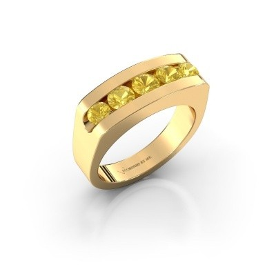 Men's ring Richard 375 gold yellow sapphire 4 mm