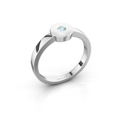 Ring Elisa 950 platina aquamarijn 3 mm