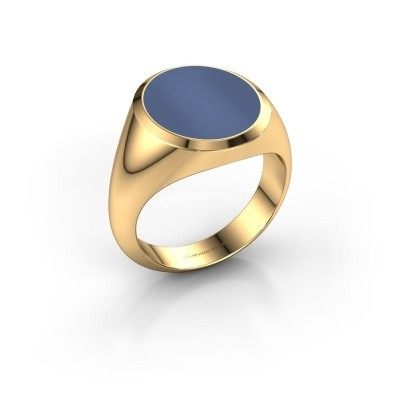 Picture of Signet ring Herman 5 585 gold blue sardonyx 15x13 mm