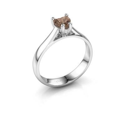 Engagement ring Sam Heart 585 white gold brown diamond 0.50 crt
