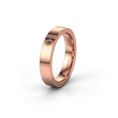 Alliance WH0101L14BP 375 or rose diamant brun ±4x1.5 mm
