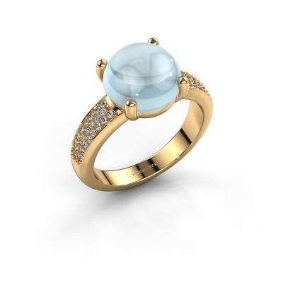Foto van Ring Sophie 585 goud aquamarijn 10 mm