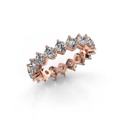 Foto van Aanschuifring Janie 3.4mm 375 rosé goud lab-grown diamant 3.00 crt