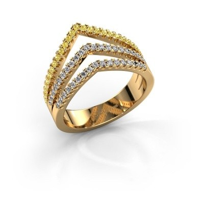 Ring Kendra 375 gold yellow sapphire 1.2 mm