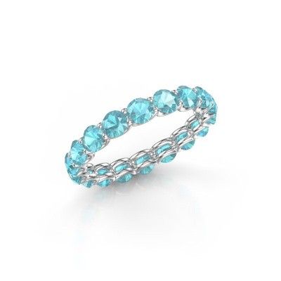 Picture of Ring Kirsten 3.4 585 white gold blue topaz 3.4 mm