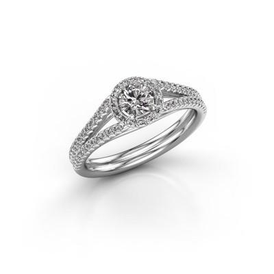 Verlovingsring Verla 2 585 witgoud diamant 0.584 crt