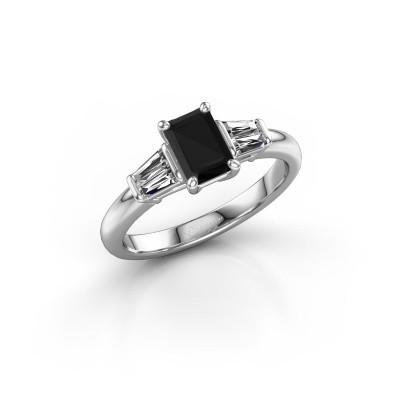 Foto van Verlovingsring Kina EME 585 witgoud zwarte diamant 1.40 crt