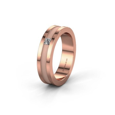 Trouwring WH2001L 375 rosé goud lab-grown diamant ±5x2 mm