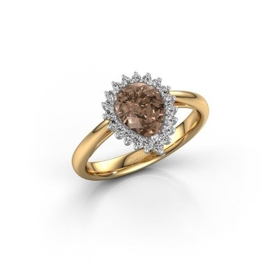 Picture of Engagement ring Tilly per 1 585 gold brown diamond 0.95 crt