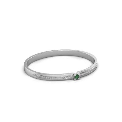 Foto van Armband Myrthe 585 witgoud smaragd 4 mm