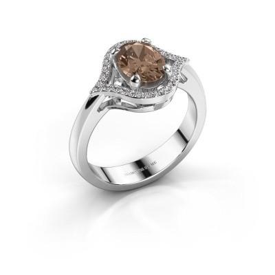 Ring Mendy 585 witgoud bruine diamant 1.29 crt