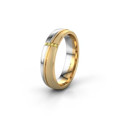 Weddings ring WH0909L25X 585 gold yellow sapphire ±5x1.5 mm
