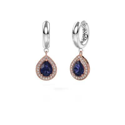 Picture of Drop earrings Barbar 1 585 rose gold sapphire 8x6 mm