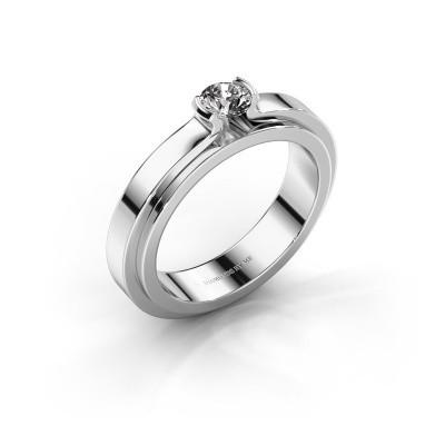Foto van Verlovingsring Jacinda 950 platina diamant 0.30 crt