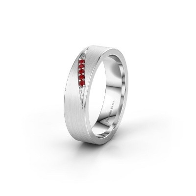 Wedding ring WH2148L25AM 950 platinum ruby ±5x1.7 mm