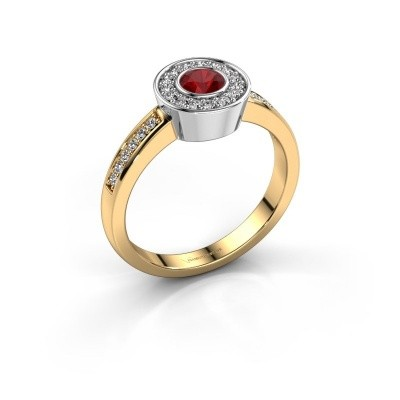 Ring Adriana 2 585 Gold Rubin 4 mm