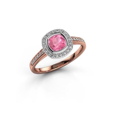Foto van Verlovingsring Noud cus 2 585 rosé goud roze saffier 5 mm