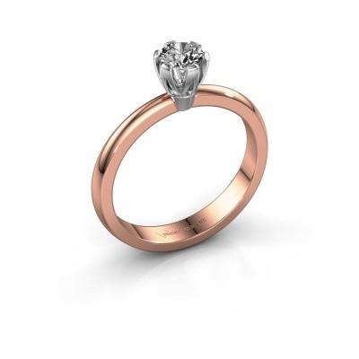 Foto van Verlovingsring Julia 585 rosé goud lab-grown diamant 0.25 crt