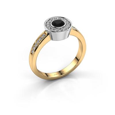 Ring Adriana 2 585 gold black diamond 0.503 crt