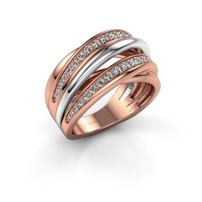 Ring Marylouise 2 585 rose gold zirconia 1.2 mm