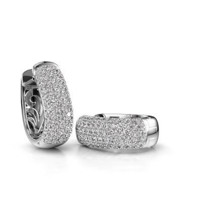 Foto van Oorhangers Danika 10.5 B 585 witgoud lab-grown diamant 1.92 crt